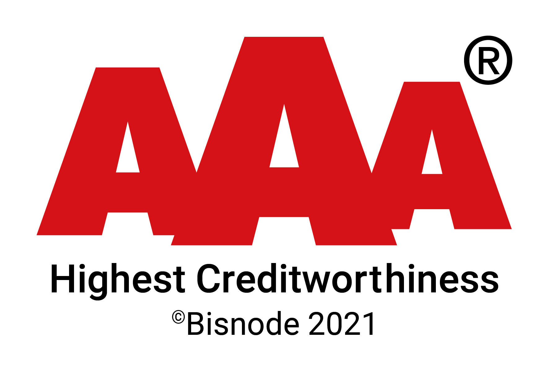 AAA highest creditworthiness